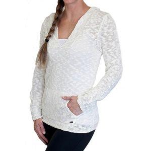 Roxy Women's Warm Heart Hooded White Sweater Sz S